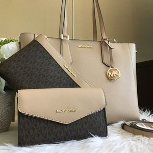 3 in 1 Michael Kors Kimberly tote set